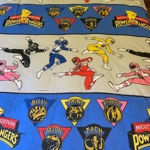 Vintage Mighty Morphin Power Rangers Flat Sheet